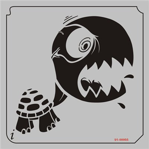 91-00066 Angry Turtle Cartoon