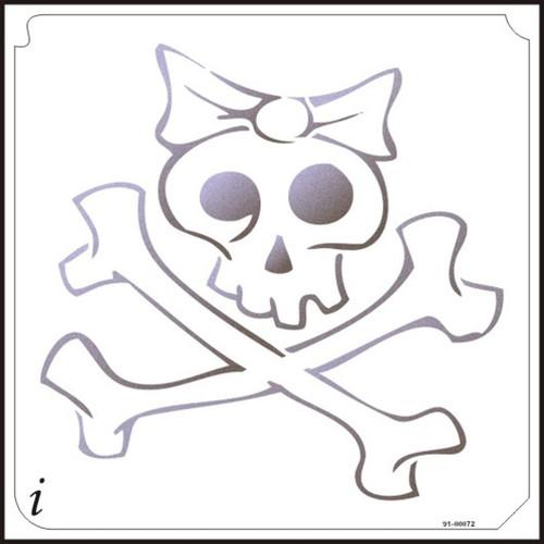 91-00072 Girly Bow Skull and Crossbones