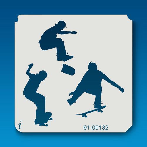 91-00132 Trio of Skateboarders