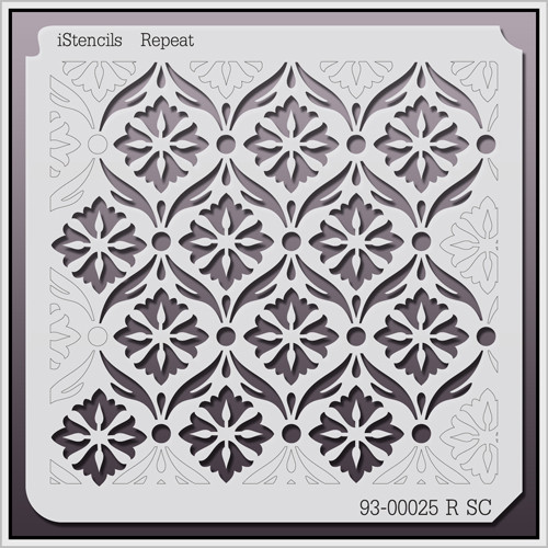 93-00025 R SC Vintage Repeating Floral Stencil