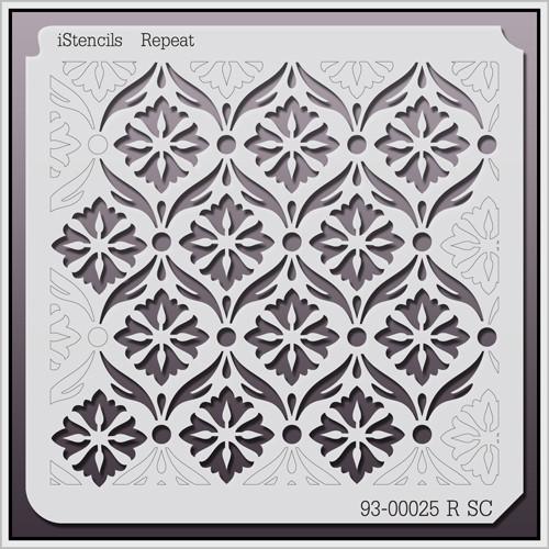 93-00025 R SC Vintage Repeating Floral Stencil