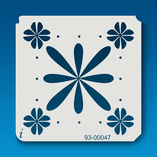 93-00047 Flower Tile Stencil