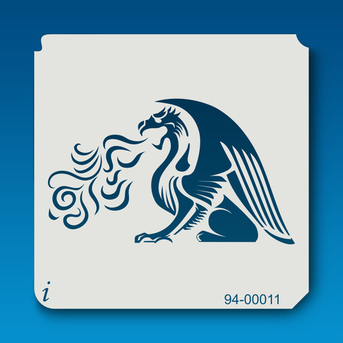 94-00011 fire breathing griffin stencil