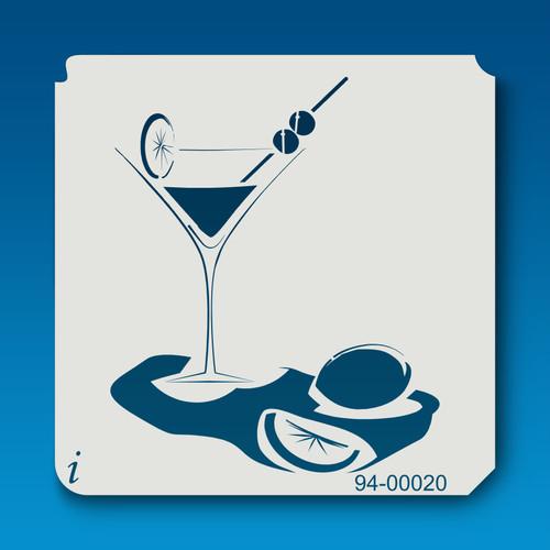 94-00020 martini drink stencil