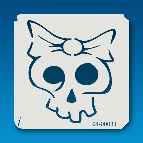 94-00031 Bow Skull Stencil