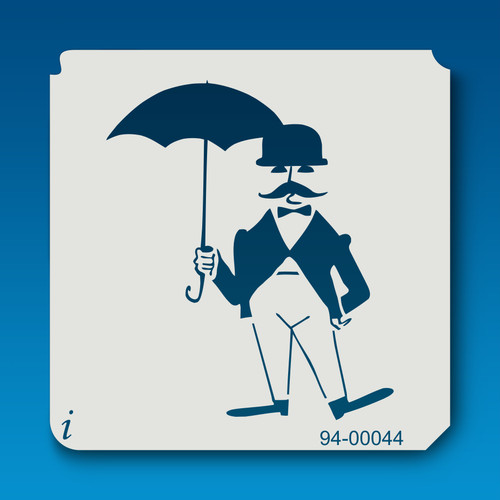 94-00044 Gentleman with Umbrella Stencil