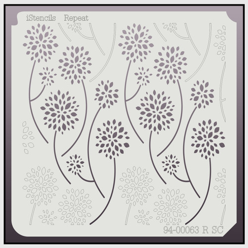 94-00063 R SC Repeating Dandelion Flower Stencil