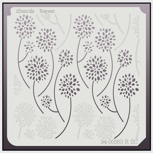 94-00063 R SC Repeating Dandelion Flower Stencil