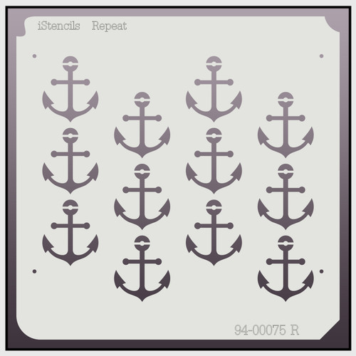 94-00075 R Anchor Repeating Stencil
