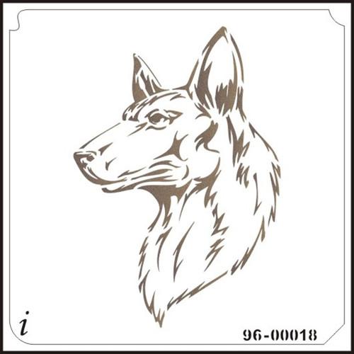 96-00018 Shepherd Dog Pet Stencil