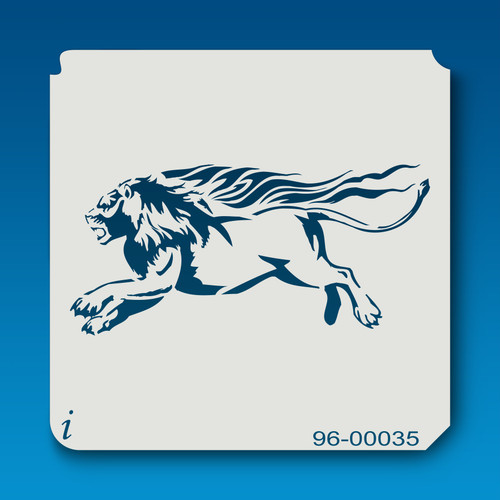 96-00035 Running Lion Safari Animal Stencil