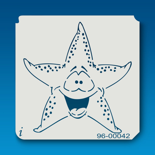 96-00042 Cartoon Starfish Stencil