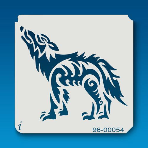 96-00054 Howling Wolf Tattoo Stencil