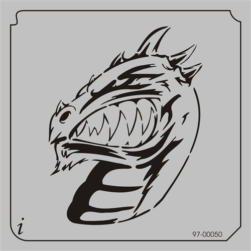 97-00050 Cartoon Scowling Dragon