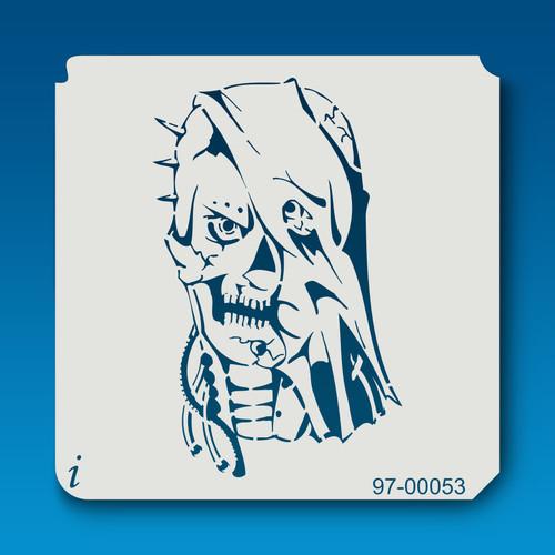 97-00053 Robotic Skull Stencil