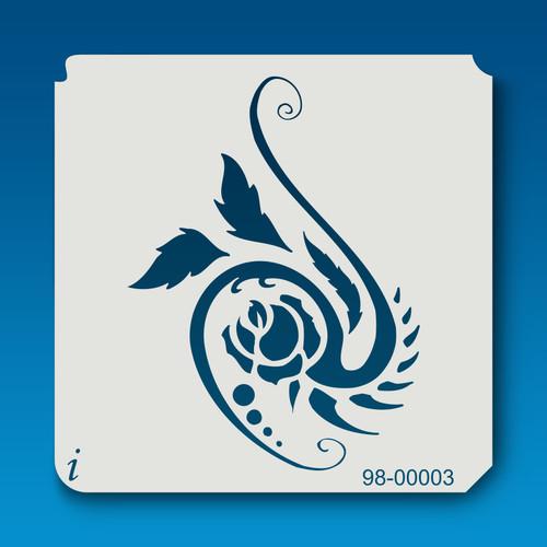 98-00003 Piranha Rose Stencil