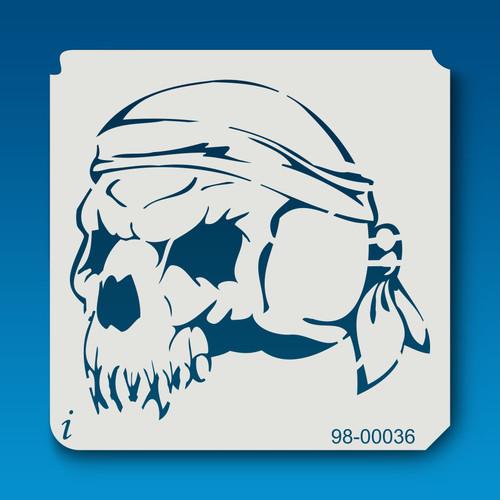 98-00036 Rambo Skull Stencil
