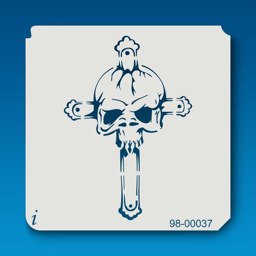 98-00037 Cross and Skull Stencil
