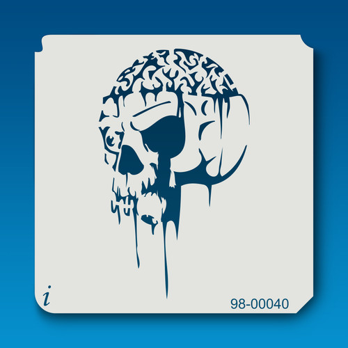98-00040 Skull with Dripping Brains