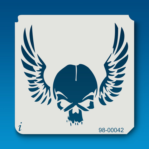 98-00042 Skull and Wings Stencil