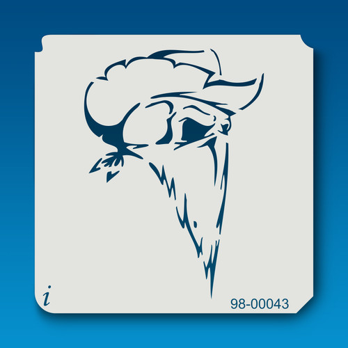 98-00043 Cowboy Skull Stencil