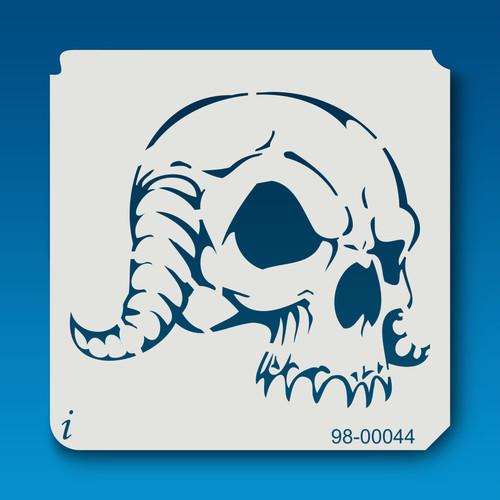 98-00044 Horned Skull Stencil