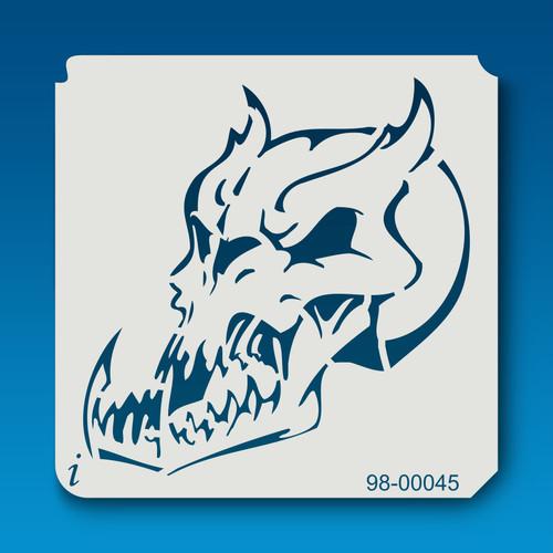 98-00045 Demon Skull Stencil