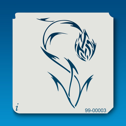 99-00003 Fireball Flower Stencil