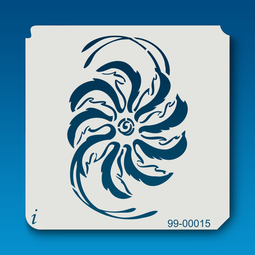99-00015 Hurricane Flower Stencil