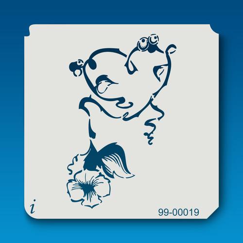 99-00019 Heart & Flower Stencil