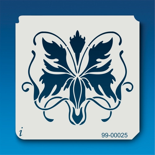 99-00025 Butterfly Damask Stencil