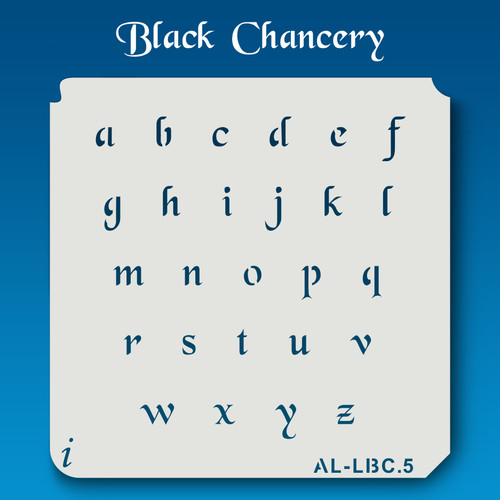AL-LBC Black Chancery - Alphabet  Stencil Lowercase
