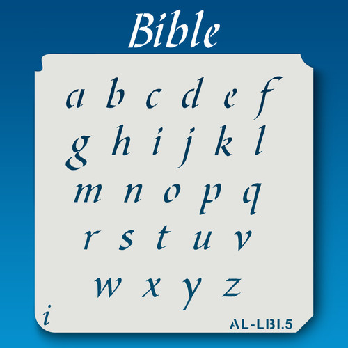 AL-LBI Bible-Alphabet Stencil Lowercase
