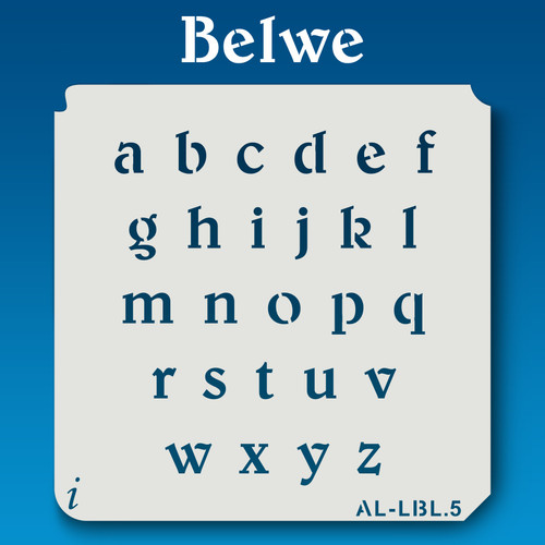 AL-LBL Belwe -Alphabet Stencil Lowercase