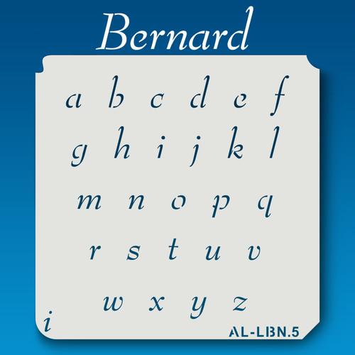 AL-LBN Bernard - Alphabet  Stencil Lowercase