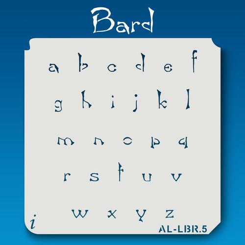 AL-LBR Bard- Alphabet Stencil  Lowercase
