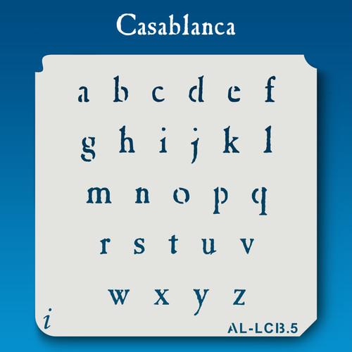 AL-LCB Casablanca - Alphabet  Stencil Lowercase