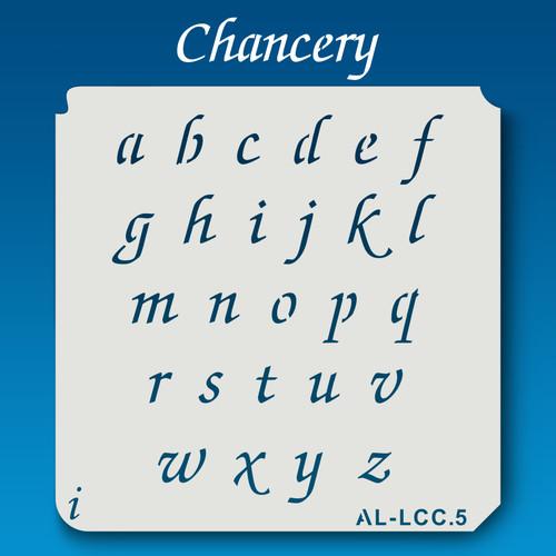 AL-LCC Chancery - Alphabet  Stencil Lowercase
