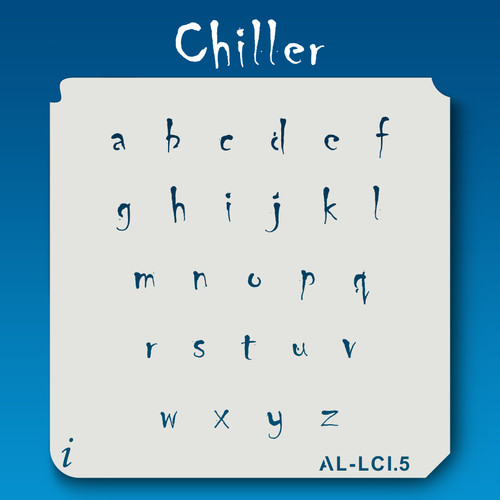 AL-LCI Chiller - Alphabet  Stencil Lowercase