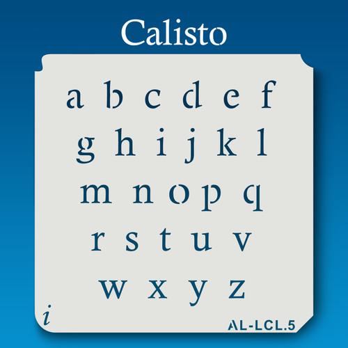 AL-LCL Calisto - Alphabet  Stencil Lowercase