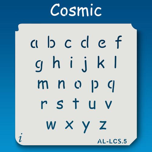 AL-LCS Cosmic - Alphabet  Stencil Lowercase