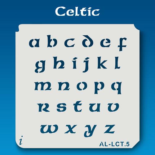 AL-LCT Celtic - Alphabet  Stencil Lowercase