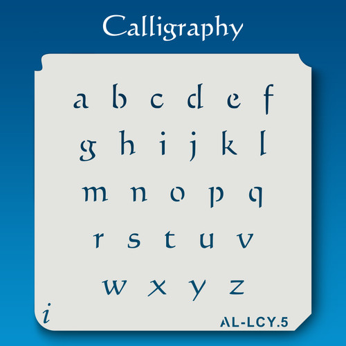 AL-LCY Calligraphy - Alphabet  Stencil Lowercase