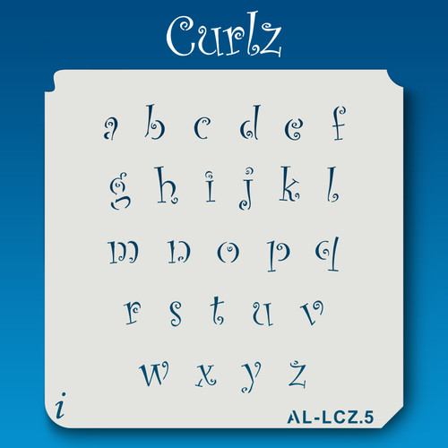 AL-LCZ Curlz - Alphabet  Stencil Lowercase