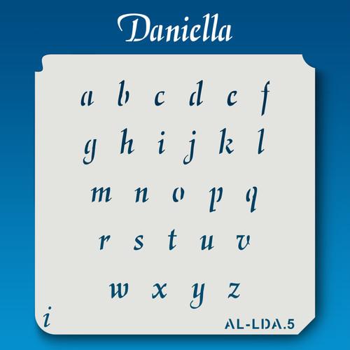 AL-LDA Daniella - Alphabet  Stencil Lowercase