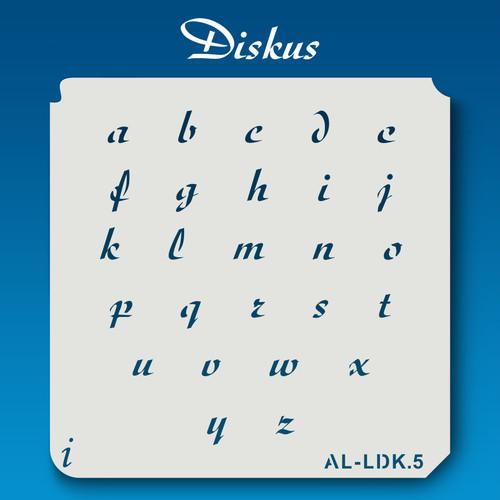 AL-LDK Diskus - Alphabet  Stencil Lowercase