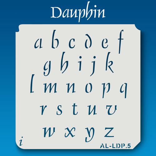 AL-LDP  Dauphin - Alphabet  Stencil Lowercase