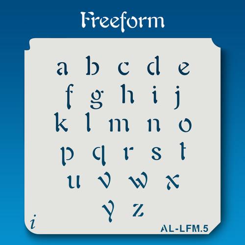 AL-LFM  Freeform - Alphabet  Stencil Lowercase