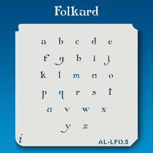 AL-LFO  Folkard -  Alphabet  Stencil Lowercase