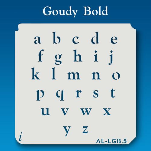 AL-LGB Goudy Bold -  Alphabet  Stencil Lowercase
